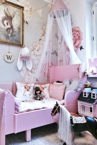 Kids Canopy Bed For Girly Bedroom #pinkcanopybed