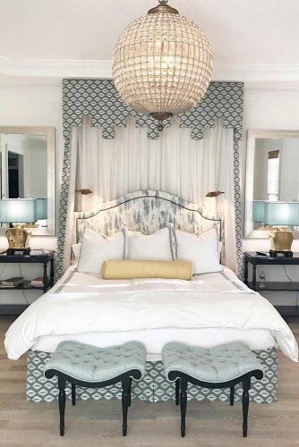 Platform Canopy Bed With Curtains #platformbed #curtains