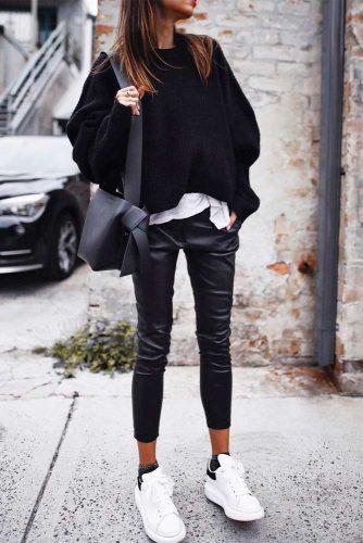 Black Oversize Sweater #blacksweater #oversizesweater