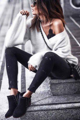 V-Neck White Cashmere Sweater #vneck #whitesweater