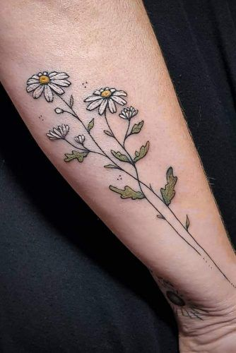 Daisy Flower Tattoo #daisyflowertattoo