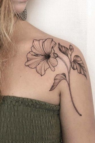 Hibiscus Flower #hibiscusflowertattoo