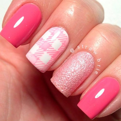 Absolute Girlish Pink Nail Design #prettynails #pinknails #squarenails