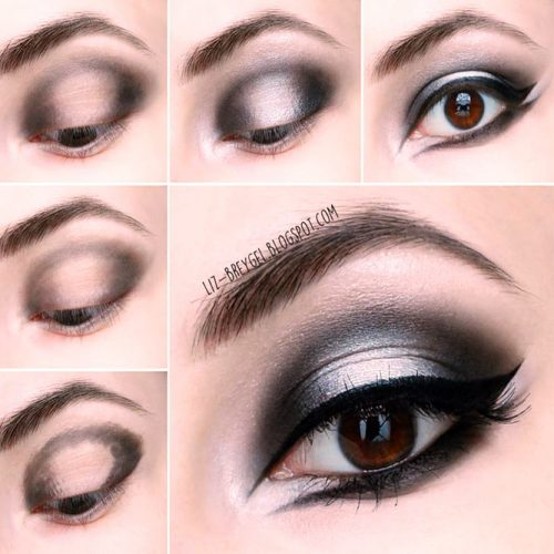 Dramatic Eyes Tutorial For Goth Makeup #tutorial #eyesmakeup
