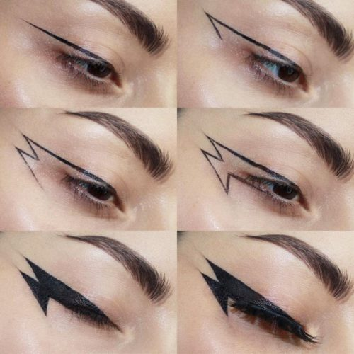 Eyeliner Tutorial For Goth Makeup #eyeliner #eyestutorial