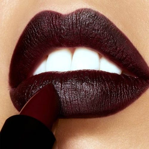 Burgundy Shade For Goth Makeup #burgundylipstick