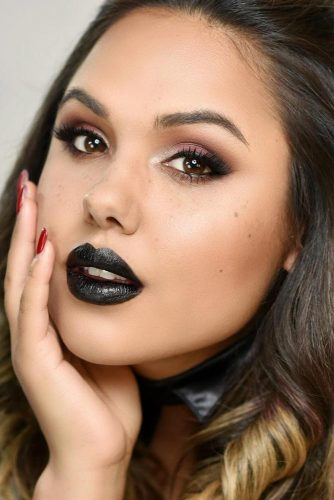 Soft Goth Makeup With Black Lipstick #blacklipstick #smokey
