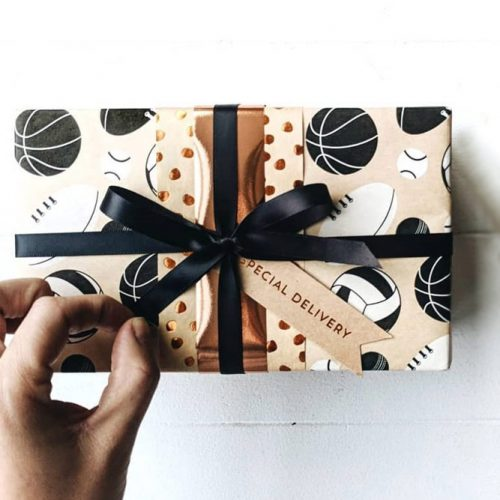 Balls Galore Wrapping Paper For Him #patternedpaper #giftforhim
