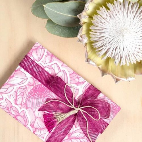 Bloom Wrap Paper With DIY Dip Dyed Tassels #bloomwrappaper #bow
