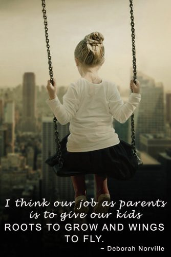 I think our job as parents is to give our kids roots to grow and wings to fly #quotesaboutfamily #inspirationalfamilyquotes #familylovequotes