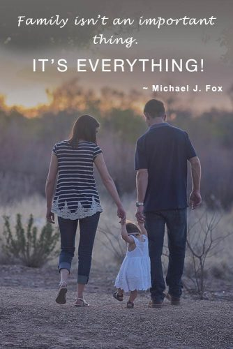 The family isn't an important thing. It's everything #quotesaboutfamily #inspirationalfamilyquotes #familylovequotes