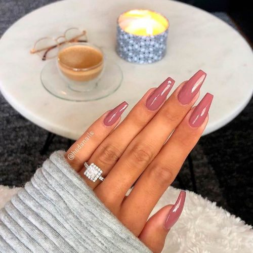 Style And Elegance: What Color Is Mauve #coffinnails #simplenails