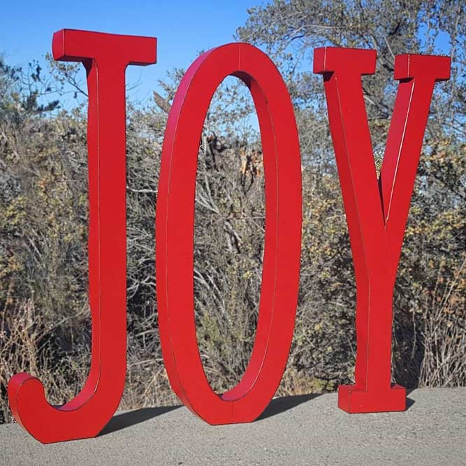 Lettering Outdoor Decorations #redlettering #redlettering