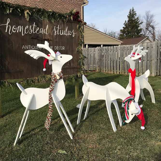 Wooden Reindeer Decorations #deerdecor #rusticdecor
