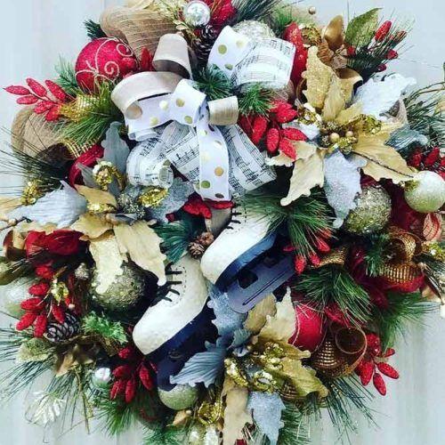 Skates Christmas Wreath Design #festivewreath #skateswreath