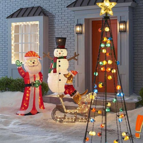 Light Decorations For Your Yard #lights #snowman