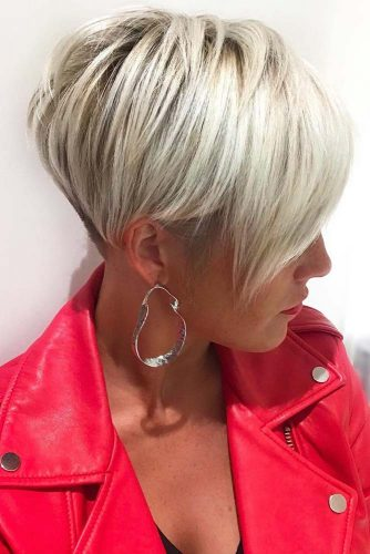 Pixie With Long Bangs Slight Taper #shorthair #bangs #pixie