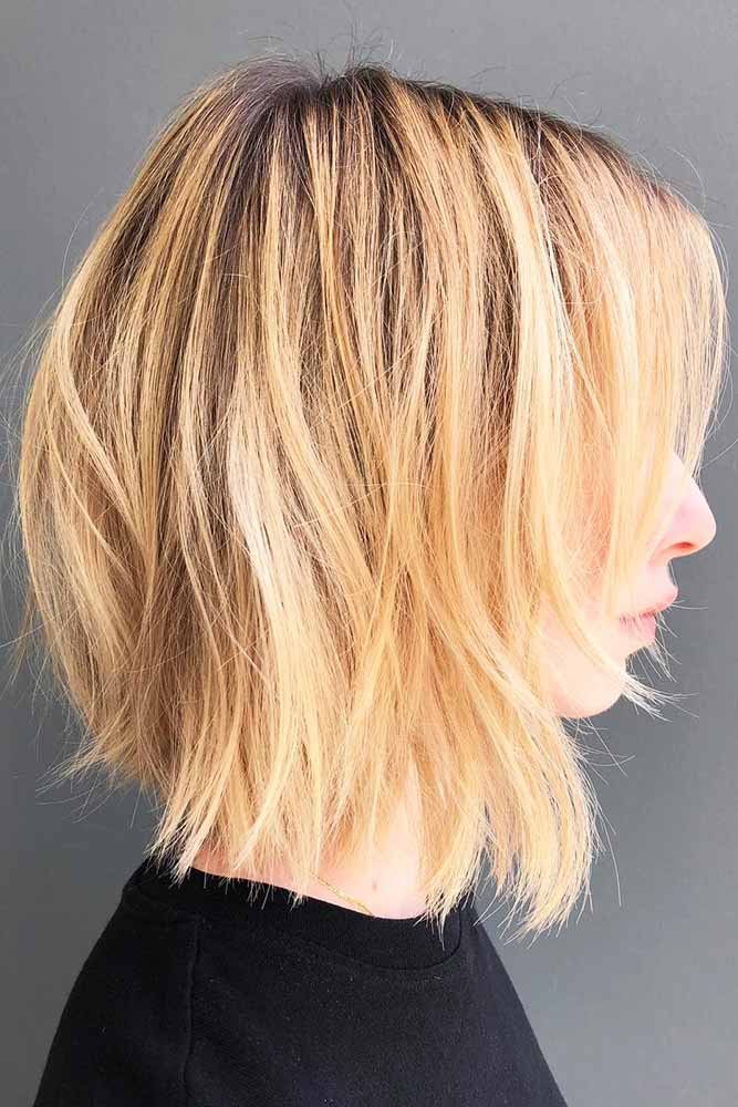 Tousled Cut With Thin Sweeping Bangs #shorthair #bangs #bob