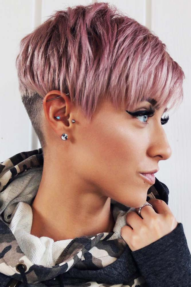 Undercut Pixie With Choppy Layers #shorthair #pixie #bangs #layeredhair