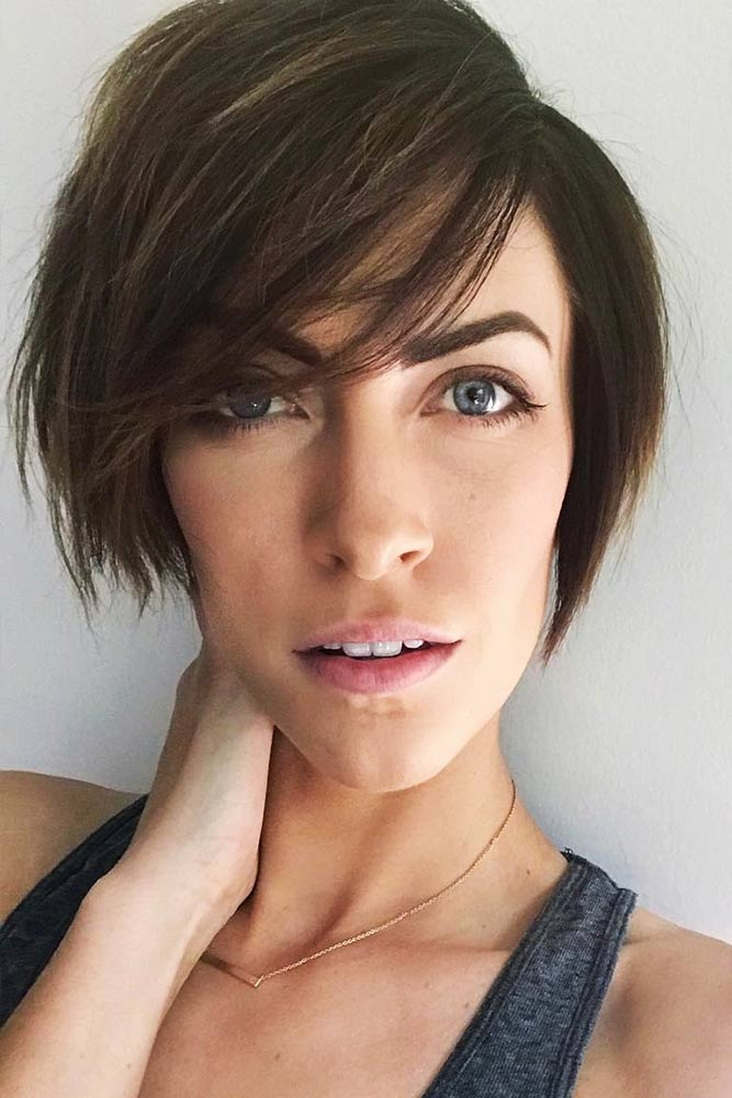 Layered Wispy Bob With Light Bangs #shorthair #bangs #pixie