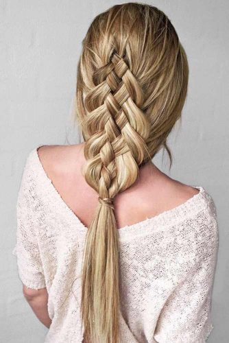 Five Strand Braid #braids #longhair