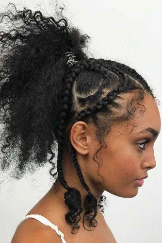 Micro Braids #braids #ponytail