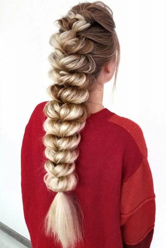 Pull Through Braid #braids #messyhair #longhair