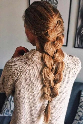 Simple Three-Strand Braid #braids #longhair