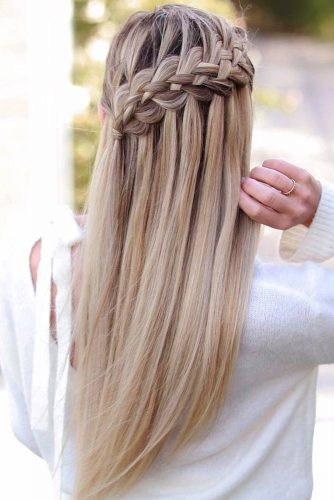 Waterfall Braid #braids #longhair #straighthair