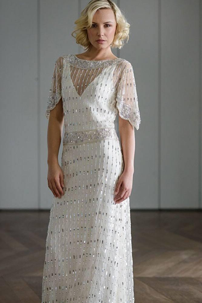 Beaded Crystals Vintage Dress Design #beadeddress