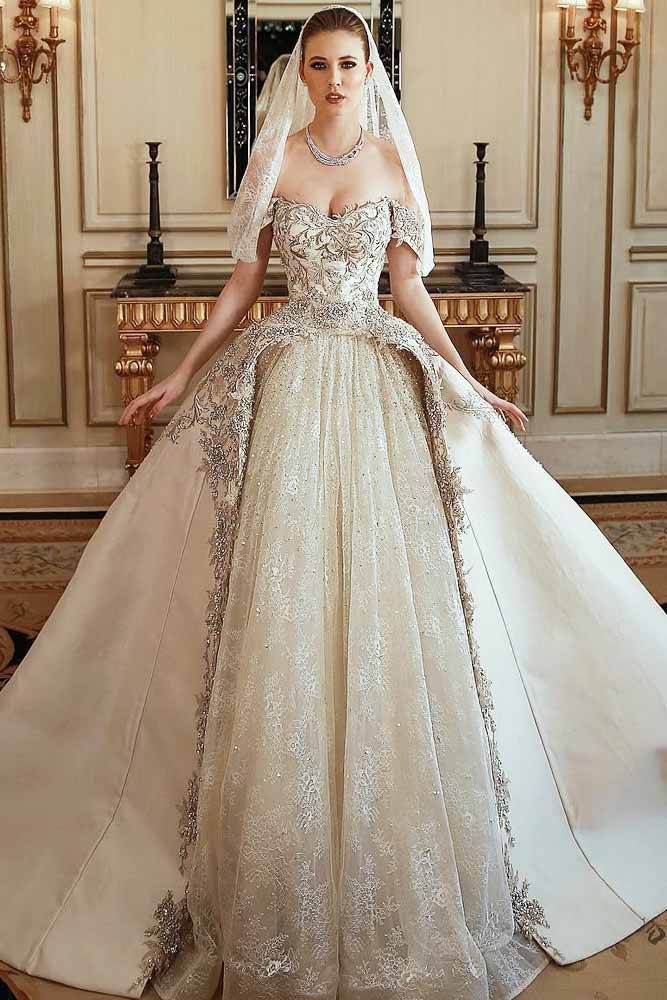 Princess Wedding Gown With Double Skirt #weddinggown #doubleskirt
