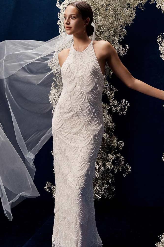 Flapper Vintage Wedding Dress #flapperdress