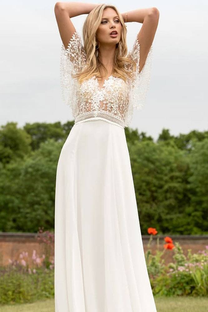 Vintage Dress With Button Butterfly Sleeves #lacetop