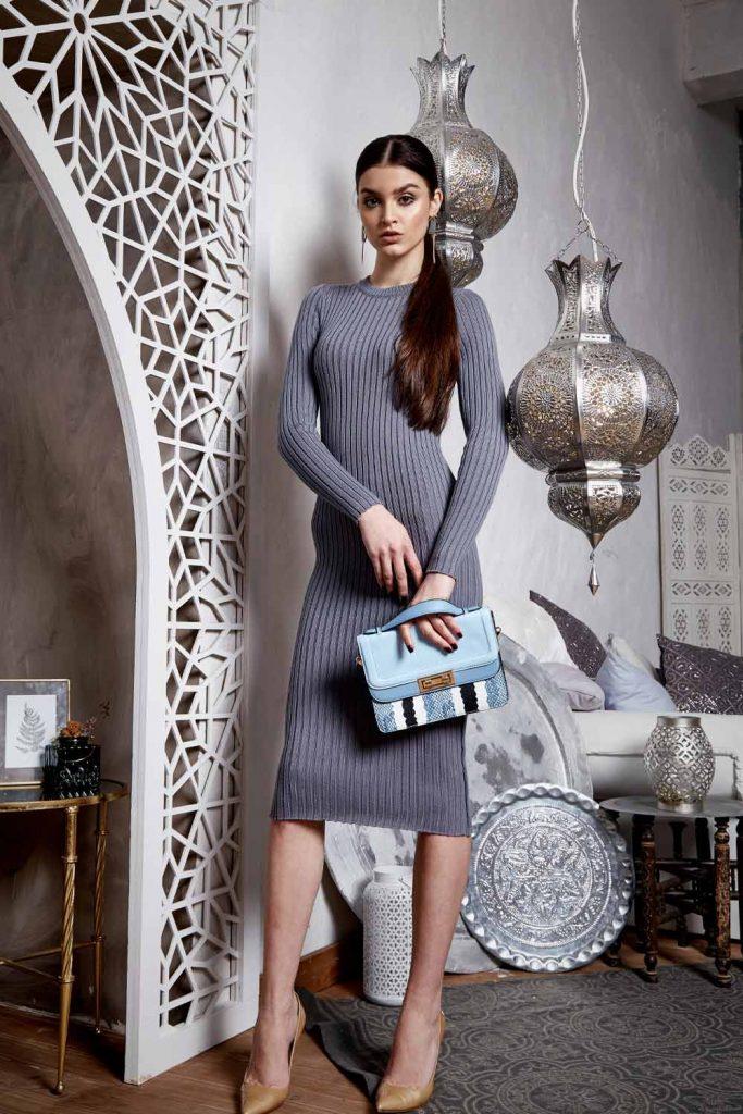 Grey Sweater Winter Dress