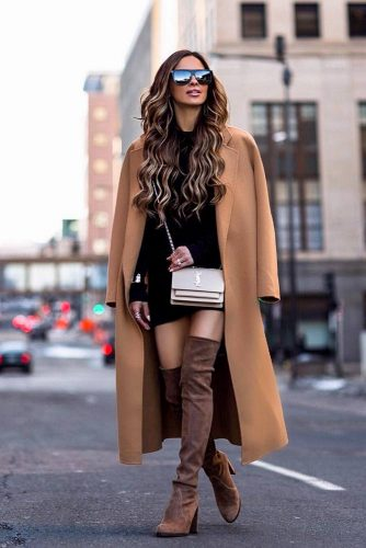 Winter Dress With Long Coat #wintercoat #otkboots