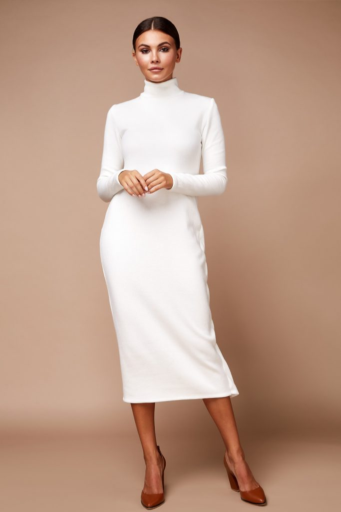 White Long Winter Dress
