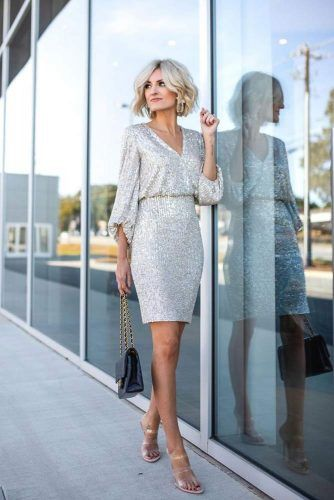 Silver Sequin Dress #silverdress
