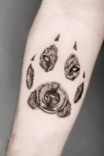 Wolf Paw Tattoo Idea #wolfpawtattoo #pawtattoo