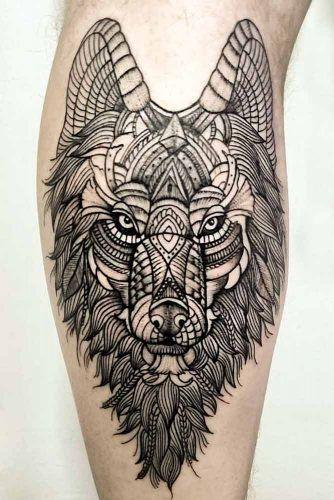Mandala Wolf Tattoo Design #mandalatattoo