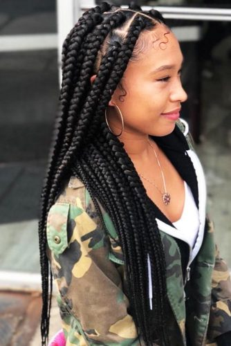 Big And Thick Box Braids #braids