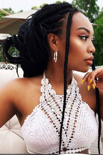 Goddess Box Braids #braids #updo