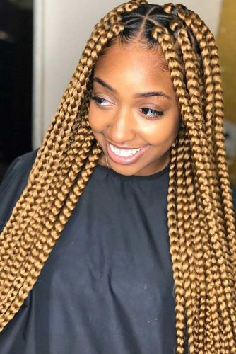 Gold Box Braids #braids