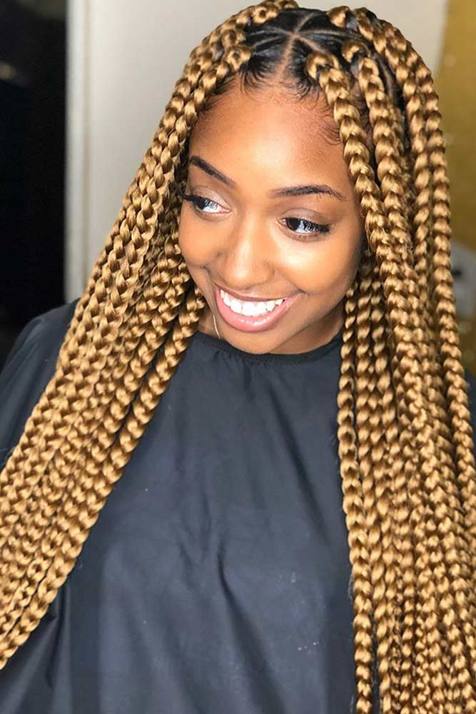 Gold Box Braids #braids