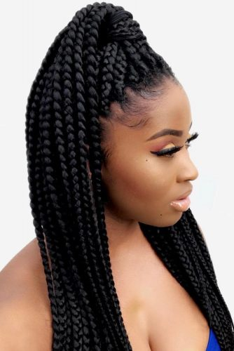 How To Do Box Braids #braids #ponytail