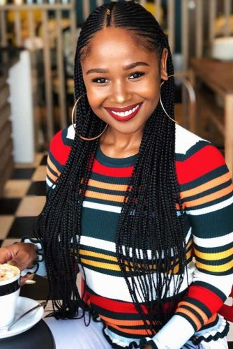 Long Thin Box Braids #braids