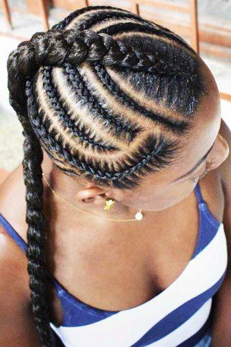 Box Braids Mohawk #braids #mohawk