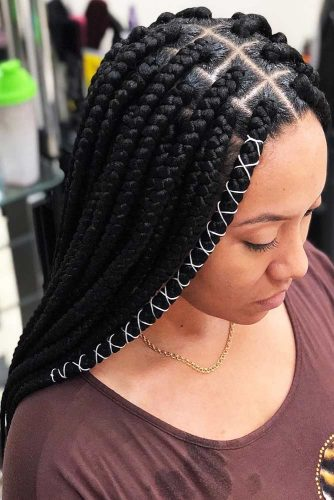 Thick Jumbo Box Braids #braids