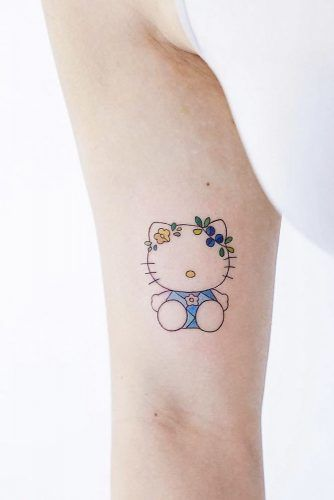 Hello Kitty Tattoo Idea For True Fans #hellokitty #hellokittytattoo