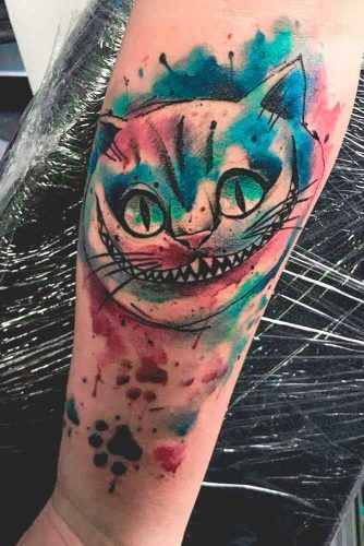 Cheshire Cat Tattoos #aliceinwonderlandtattoo #cheshirecattatoos