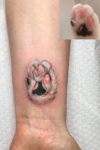 Cat Paw Tattoo #pawtattoo #catpawtattoo #wristtattoo